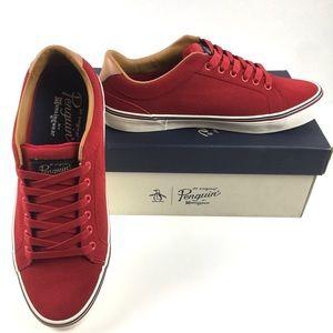 Original Penguin Red Suede Sneakers